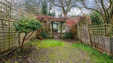 The mature south-west facing garden is a real feature of this city centre home. Picture: Bradford &