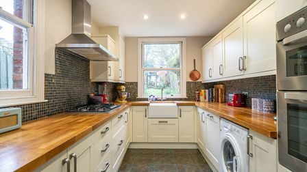 The kitchen overlooks the rear garden. Picture: Bradford & Howley