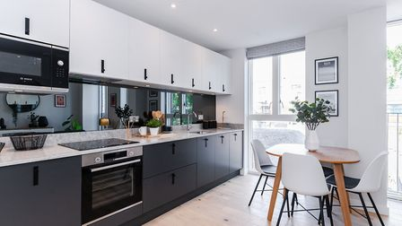 Inside the show apartment at Hertfordshire House, St Albans. Picture: Angle Property