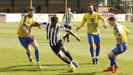 Andrew Osei-Bonsu is back with St Ives Town. Picture: LOUISE THOMPSON