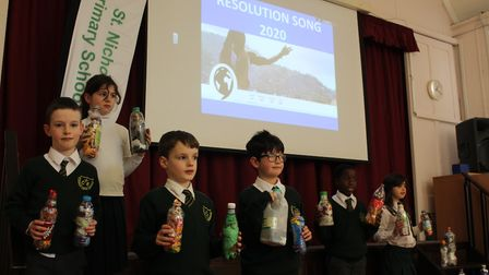 Children from St Nicholas C of E VA School in Harpenden performed the Resolution 2020 song from the