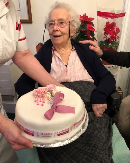 Eileen Cook celebrated her 105th birthday with her family and staff at Verulam House Care Home in St