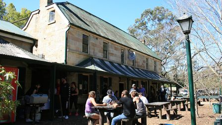 The Settlers Arms Inn in the village of St Albans in New South Wales, which has been affected by the