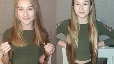 Mya Hammond donated her hair to The Little Princess Trust. Picture: Supplied