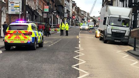 Images from the scene of the crash in St Albans. Picture: Laura Bill