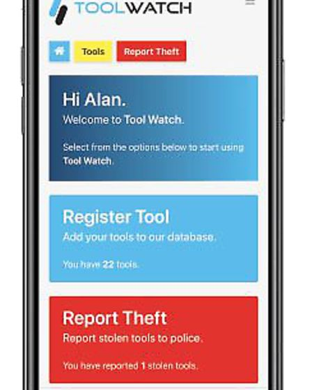 ToolWatch App, which was founded by Harpenden couple Alan and Denise Brett. Picture: Wagada