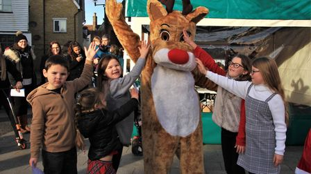 The Royston Christmas Trail attacted hundreds of families on Saturday. Picture: Clive Porter
