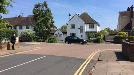 Roads such as St Albans' Woodstock Road North are packed with £1 million-plus properties. Picture: A
