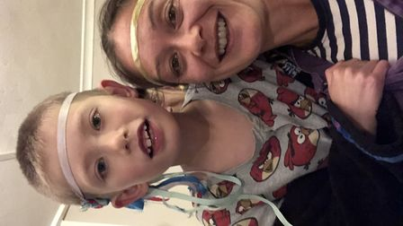 St Albans mum Donna Sharp with her son who was at home for 15 months as Donna felt it was the only w