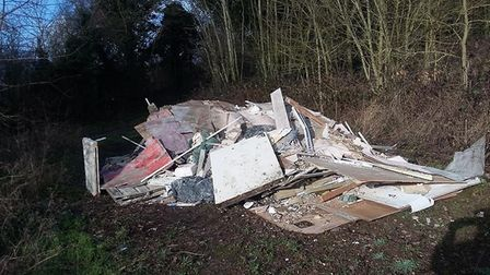Residents of Highfield are angered by the Nightingale Lane fly-tipping. Supplied: Derek Perkins