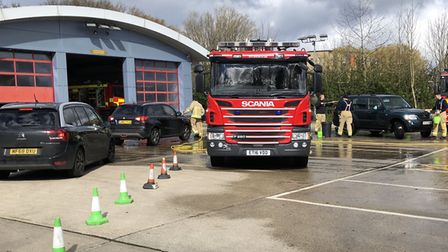A charity car wash is taking place at St Albans fire station. Picture: Supplied