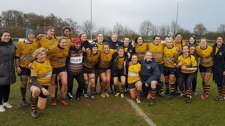 OA Saints lifted the Women's Championship South title after a 37-0 win over Trojans at Woollams.