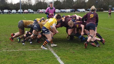A 37-0 win over Trojans at Woollams took OA Saints to the Women's Championship South title. Picture: