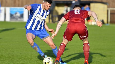 Steve Gentle scored for Eynesbury Rovers in their derby defeat to Potton United. Picture: DUNCAN LAM