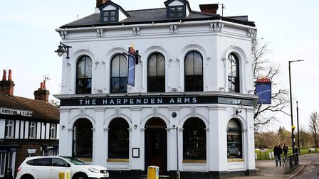 The Harpenden Arms is a popular pub. Picture: DANNY LOO.
