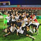 Royston Town marched into the quarter-finals of the FA Trophy with a 2-0 win over Ebbsfleet United.
