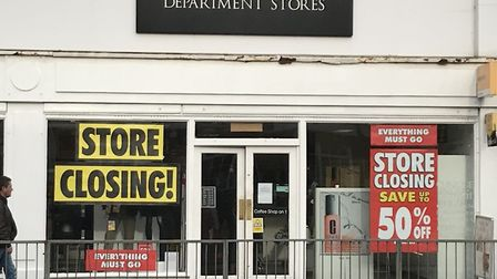 Signs outside the Beales store in St Neots suggest that it is closing - but the retailer has said it