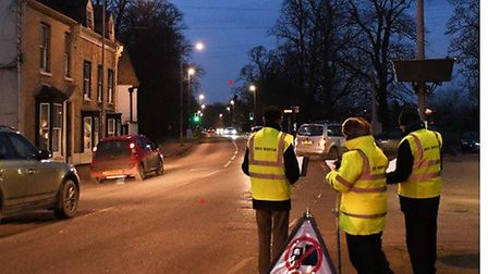 Lorry Watch volunteers were out in Godmanchester on Friday night