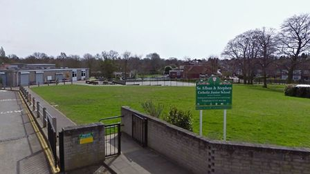 St Alban and Stephen Catholic Junior School is looking to merge with the infants and nursery school.