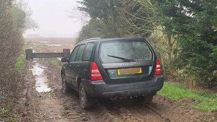 Just one example of a car taken off the road by the rural crime team.
