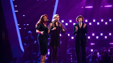 Belle Noir performing their blind audition on The Voice UK 2020. Picture: ITV / Rachel Joseph
