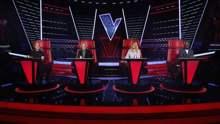 The Voice UK coaches Olly Murs, Sir Tom Jones, Meghan Trainor and will.i.am.Picture: ITV / Rachel