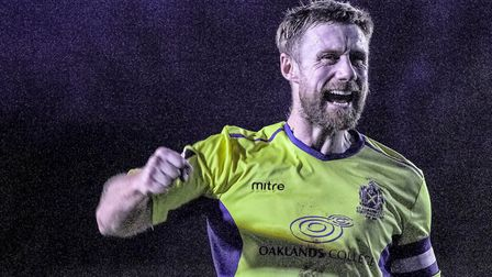 David Noble in action for St Albans City during their 1-0 win over Maidstone United. Picture: JIM ST