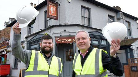 The Victoria Victoria Street, St Albans. New licensees (L-R): Thomas Maloney and his father Tom Mal