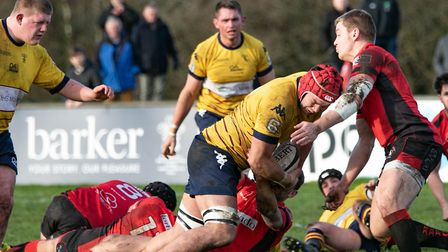 Old Albanian enjoyed a 28-26 victory on their first visit to Bournemouth. Picture: NEIL BALDWIN PHOT