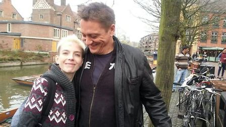 Emma Brown with her Dad Simon.