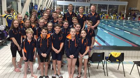 St Ives Swimming Club talents at the Cambridgeshire County Championships. Picture: SUBMITTED