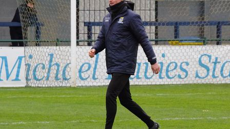 St Neots Town manager Barry Corr. Picture: DAVID R. W. RICHARDSON/RICH IN VIDEO 2019