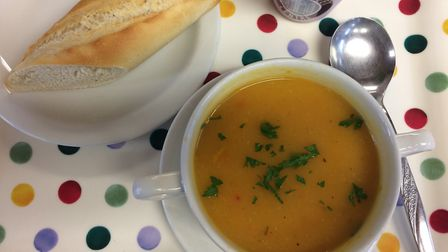 Soup at the Cross Street Centre.