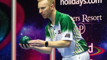 Nick Brett has reached the Singles final at the World Indoor Championships. Picture: TONY RUSHMER