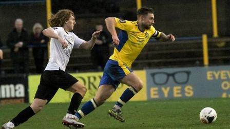 David Noble was in fine form again as St Albans City beat Maidstone United. Picture: JIM STANDEN