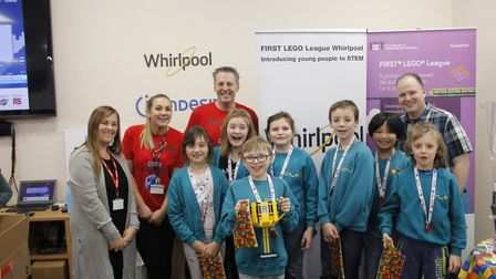 Huntingdon Primary School pupils won a Lego competition