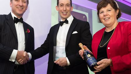 Institute of Osteopathy Associate of the Year award: (left to right) Stephen Barabas from sponsors K