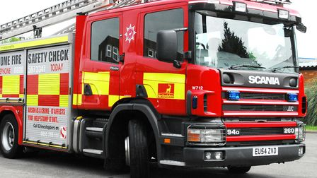 Firefighters from St Albans attended a four-car crash in Old London Road. Picture: Hertfordshire Fir