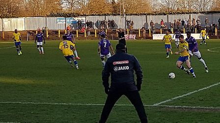 St Albans City took on Maidstone United in the National League South at Clarence Park.