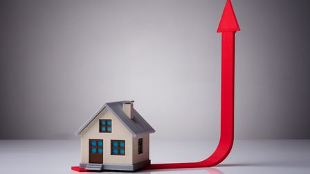 On the up: there has been a 2.3 per cent increase in the price of property coming to market. Picture