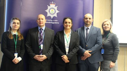 left to right: Daniela Dumitrache, DS Chris Acourt, Detective Superintendent Rebecca Tipping, PC Nic