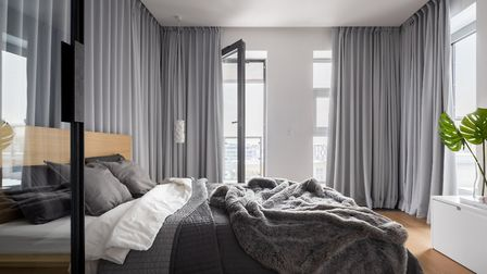 Curtains take up a decent chunk of space too and can risk making small rooms feel smaller. Picture: