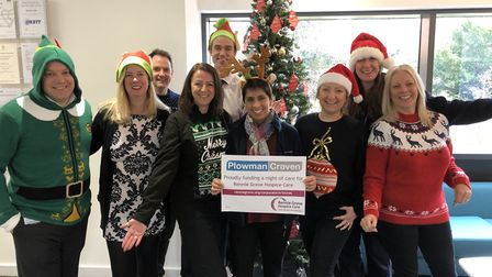 Harpenden-based business Plowman Craven supported Rennie Grove Hospice Care's Christmas Campaign. Pi