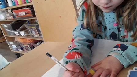 Children at Grasshoppers Day Nursery in St Albans are writing letters to their pen-pals in Australia