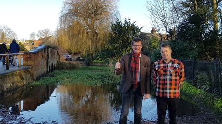 Cllrs Edgar Hill and Sandy Walkington are celebrating a successful campaign to protect two willow tr