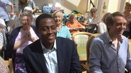 Hitchin and Harpenden MP Bim Afolami at a previous concert for senior citizens. Picture: Forget Me N