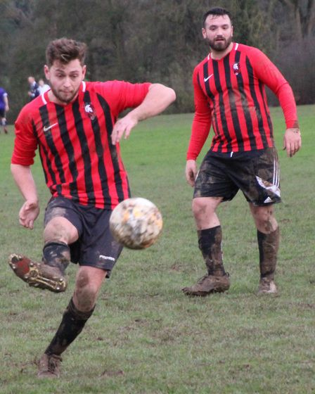 Steve Orchard's superb free-kick gave TNF a 1-0 win against Marshalswick Rovers. Picture: BRIAN HUBB
