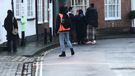 Son Heung-Min was in a film for an Adidas advert in St Albans today. Picture: Laura Bill