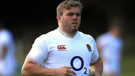 Jack Singleton training with England prior to the 2019 Rugby World Cup. Picture: ADAM DAVY/PA