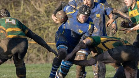 Matt Wood of St Ives during their Midlands Division Two East (South) clash with Bugbrooke. Picture: